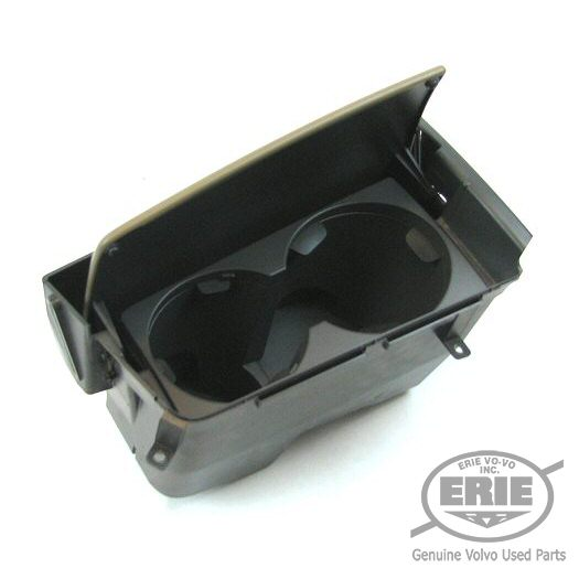 Volvo Beige 9951 9A51 Center Console Cup Holder w Flip Lid Fits S60 01 04