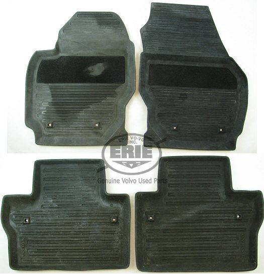 Thick Rubber Car Mats For Volvos40 S60 S80 Xc60 Xc90: 4 Volvo OEM Off Black Rubber Floor Mats For Volvo S80 07