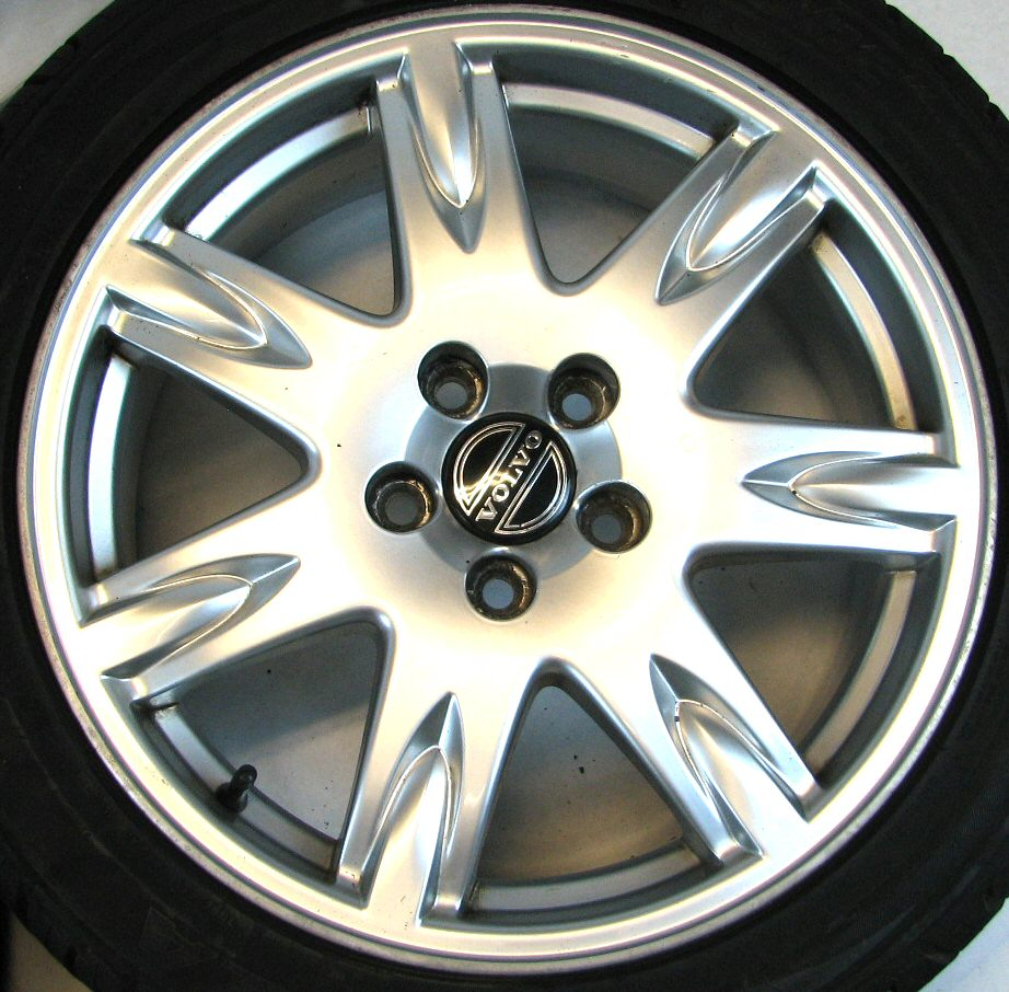 4 Volvo 17x7 5 Thor Alloy Rims Wheels Potenza Tires Caps for S60 V70 S80